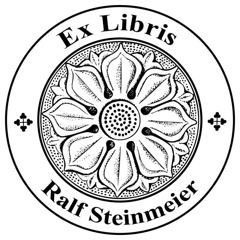 Exlibris Prägezange lateinischer Text