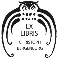Bookplate Owl in Frame