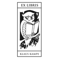 Bookplate Owl on Branch