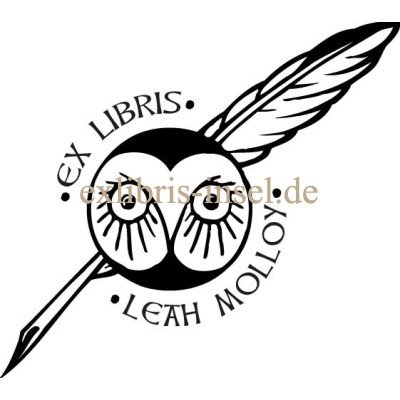 Bookplate Owl with nib