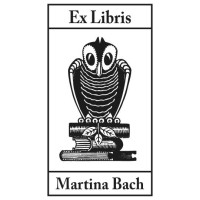 Bookplate Owl and Leaf