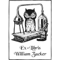 Bookplate Owl and Chemistry
