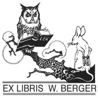 Bookplate Owl and Mouse
