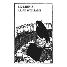 Bookplate owl, eagle owl