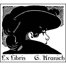 Bookplate Woman with Hat