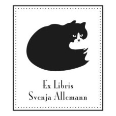 Bookplate Cat Silhouette