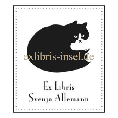 Bookplate Cat
