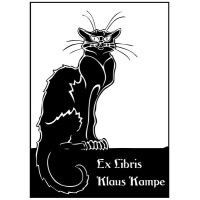 Bookplate Cat Montmartre