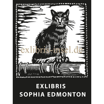 Bookplate Cat in a frame