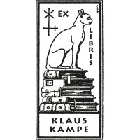 Bookplate Cat Bookshelf