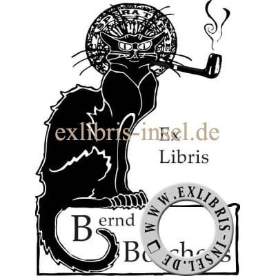 Bookplate Black Cat