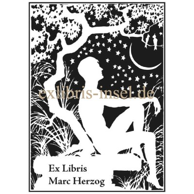 Bookplate Human and Stars