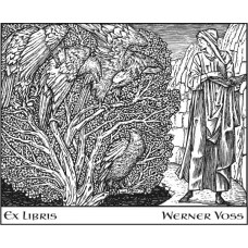 Bookplate Man, Book and Birds