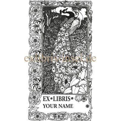Bookplate Peacock