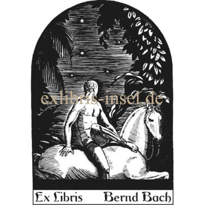 Bookplate horse and rider