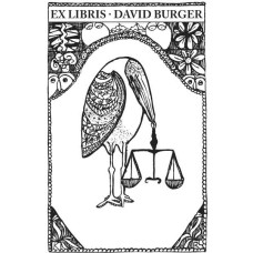 Bookplate Justice Raven with Libra
