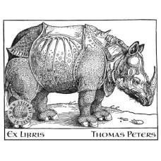 Bookplate Rhinozeros