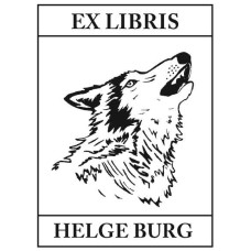 Bookplate howling Wolf