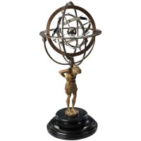 Planetary Model and Atlas, 18th C. Atlas Armillary