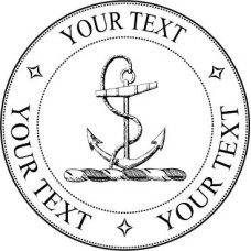 Adress Stamp - Anchor - Your Text