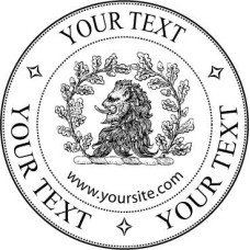 Adress Stamp - Lion - Your Text