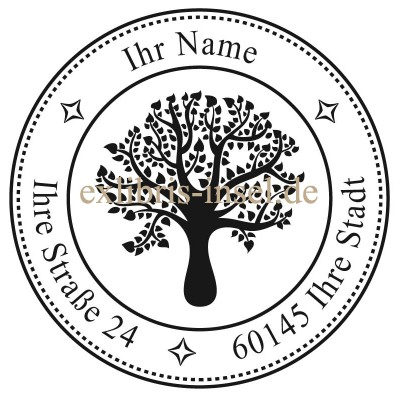 Adress Stamp Tree with your text
