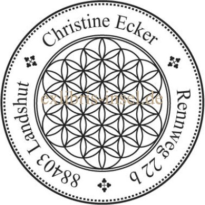 Adress Stamp Flower of Life