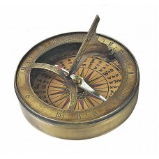 Pocket Sundial with Compass