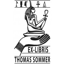 Bookplate Isis with Ankh