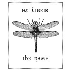 Bookplate Dragonfly