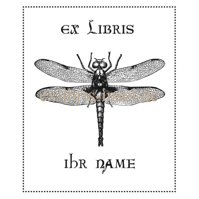 Bookplate animals, dragonfly