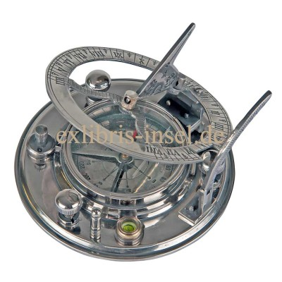 Pocket Sundial with Compass, Nautical Compass