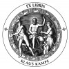 Bookplate Zeus and Hermes