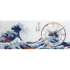 Wall clock, the Great Wave of Katsushika Hokusa