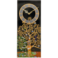 Wall clock, the tree of life of Gustav Klimt