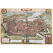 Old representation of the Hamburg city view