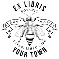 Bookplate Bee, our honey supplier