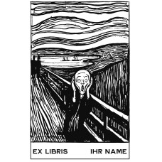 Bookplate Ex Libris the cry of Edvard Munch