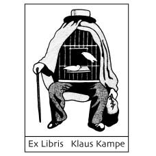 Bookplate Ex Libris art surrealism Magritte