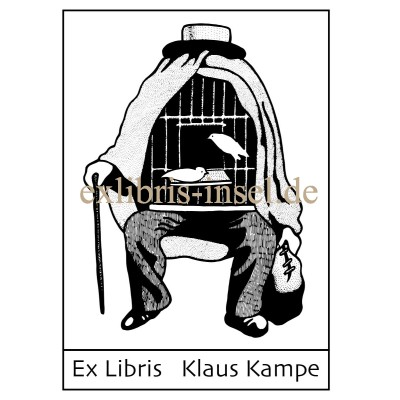 Bookplate Art Ex Libris after René Magritte, the therapist