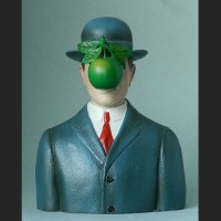 Sculpture after Magritte the Son of Man Surrealism
