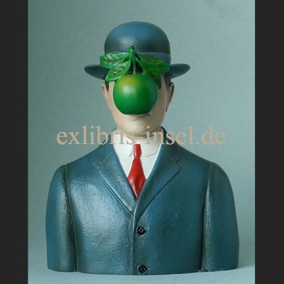Replica Man with Hat after René Magritte