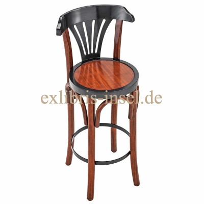 Authentic Classic bar stool with backrest