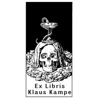Bookplate Skull Asclepius Apothecary