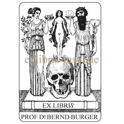 Bookplate Doctor and Medicine, Aesculapius