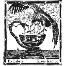 Bookplate Eagle and Snake