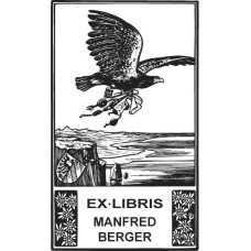 Bookplate Eagle and Sea