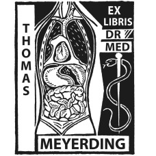 Bookplate of internists, medicine, lungs, heart, stomach