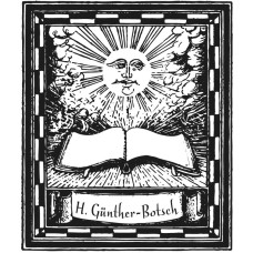 Bookplate Book and Sun