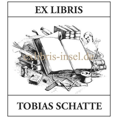Bookplate Book and Circle
